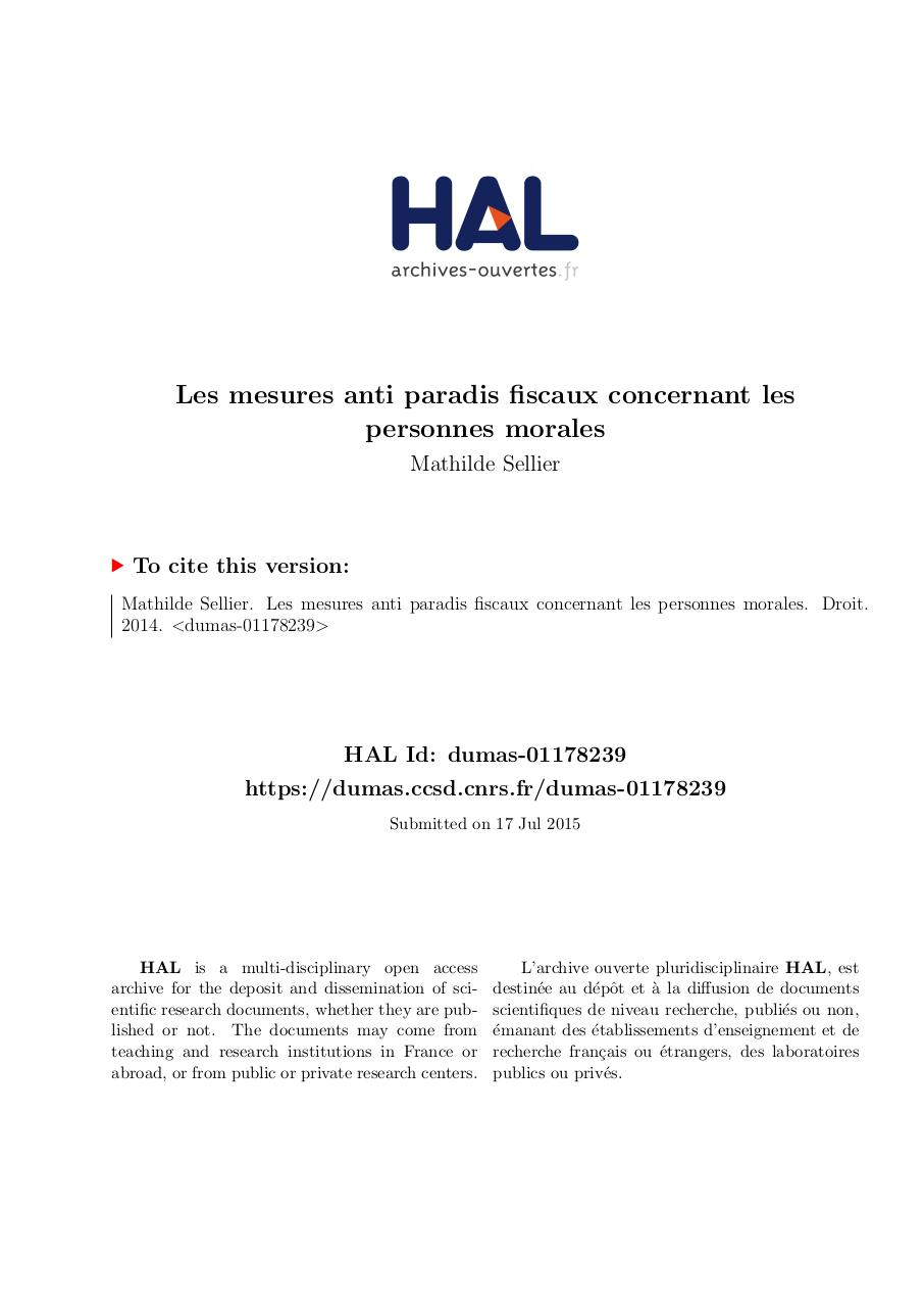 Aperçu du document memoire_M2_2014_Sellier_Mathilde.pdf - page 1/54