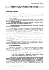 procedure penale action civile et publique