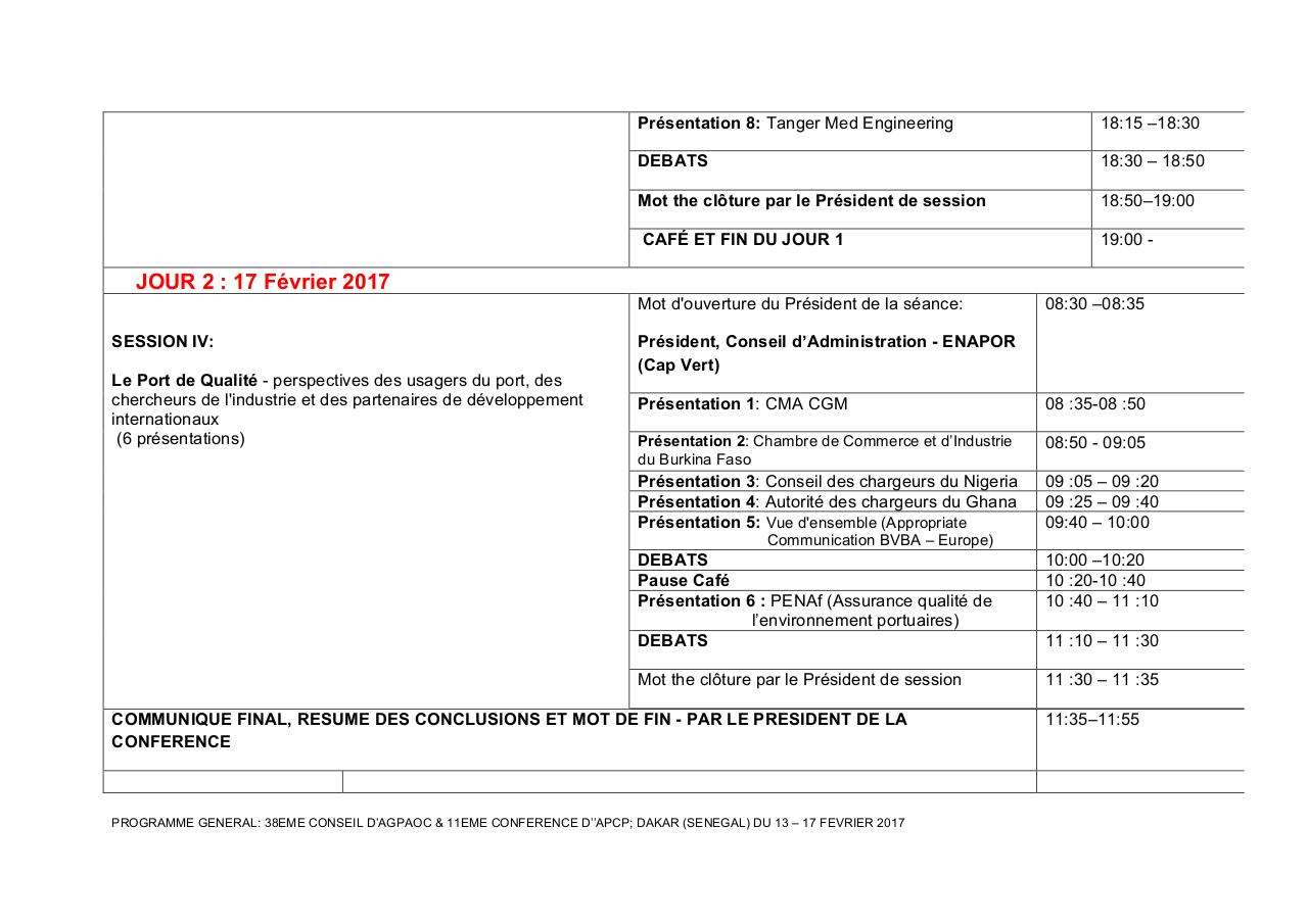 Aperçu du document PROGRAMME GENERAL-38eme CONSEL d'AGPAOC- Dakar'17-1.pdf - page 5/6