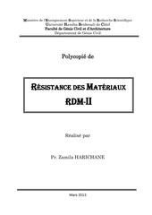 Fichier PDF polycopie rdm ii licence 2 genie civil harichan z