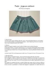 tuto jupe en velours par plume et seraphine