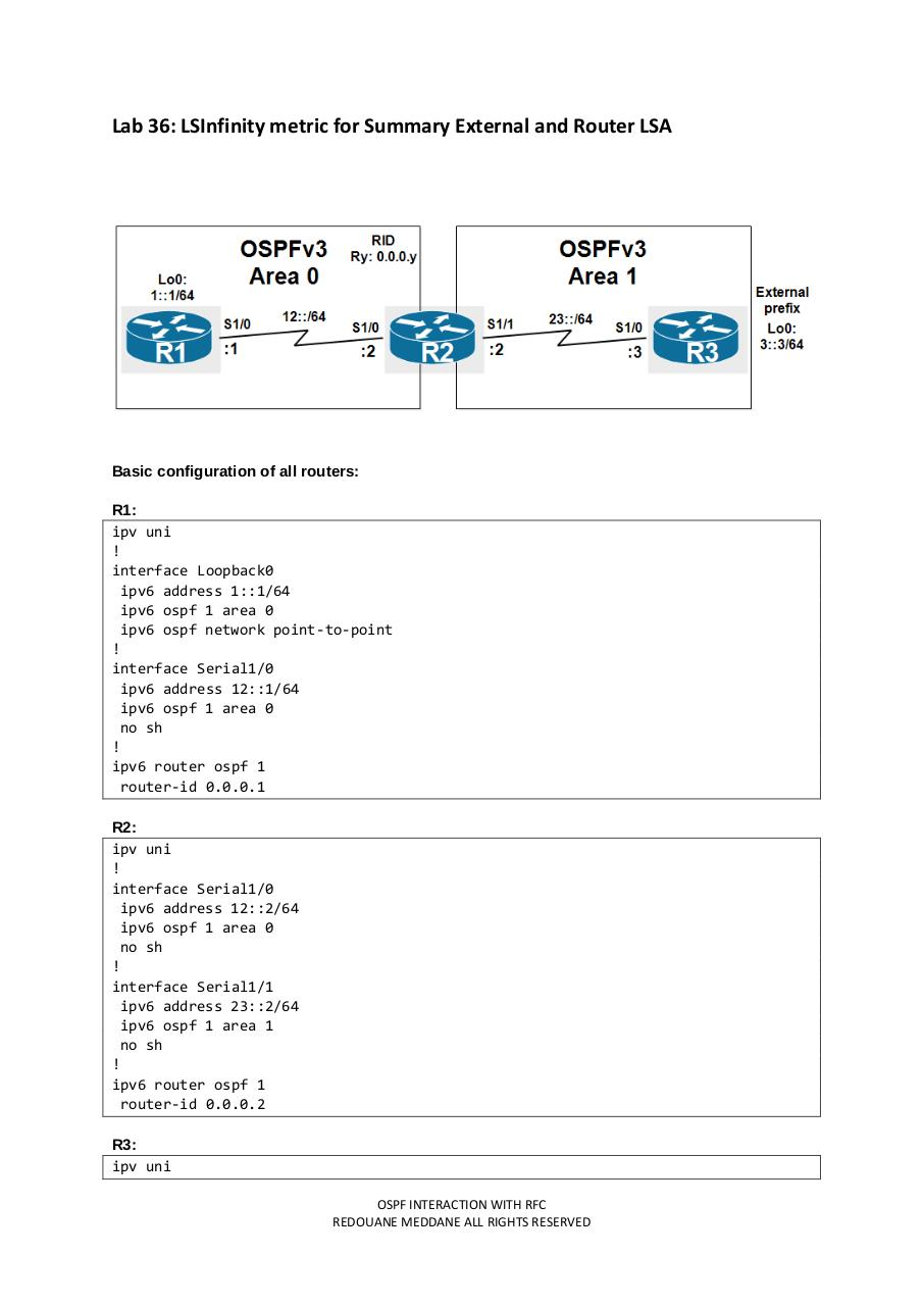 Lab 36 LSInfinity metric for Summary External and Router LSA.pdf - page 1/9
