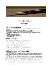 reglement officiel 2017 prix fondcombe