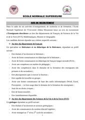 Fichier PDF avis de recrutement ens 2017