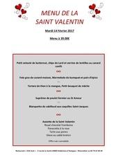 menu st valentin 2017