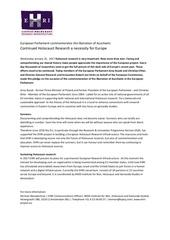 press release ehri european parliament