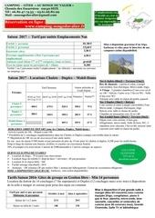 tarifs 2017 et contrat location