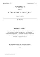 decret titres et fonction 2016