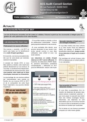 newsletter 1er trimestre 2017