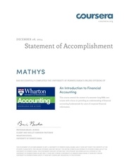 coursera accounting 2014 mathys rodiyath