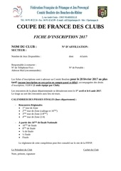 fiche d inscription coupe de france 2017