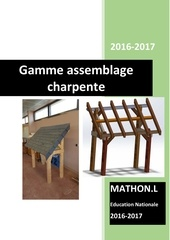 Fichier PDF gamme assemblage charpente