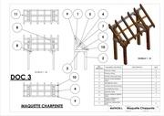 mise en a3 plan maquette charpente