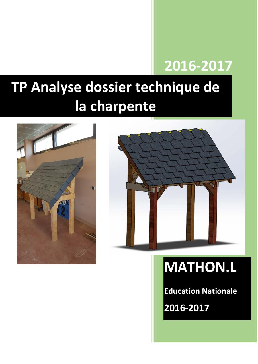 TP N°1 Analyse dossier technique Charpente.pdf - page 1/20