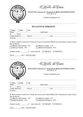 Fichier PDF formulaire adhesion 2017