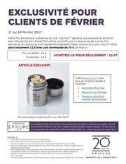promo fevrier pot alimentaire isotherme