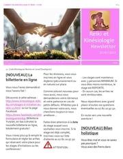 cabinet de kinesiologie reiki lyon newsletter n 4