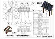 mise en a3 plan maquette charpente couverture