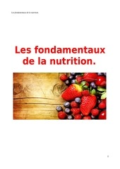 les fondamentaux de la nutrition bruno allard
