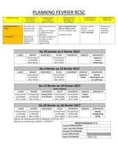 planning fevrier 2017