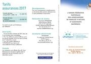 tarifs assurances ufnafaam 2017