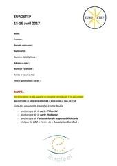 fiche inscription eurostep 1