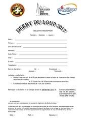 bulletin d inscription derby du loup 2017