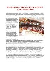 des moines tibetains chantent a l ashram de sai baba