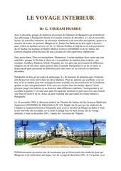 le voyage interieur dr g vikram prabhu