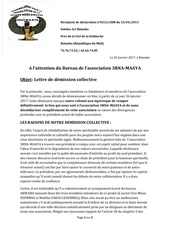 lettre de demission collective de 3rna maaya