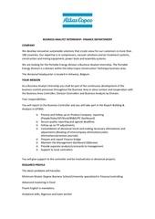 business analyst internship antwerp