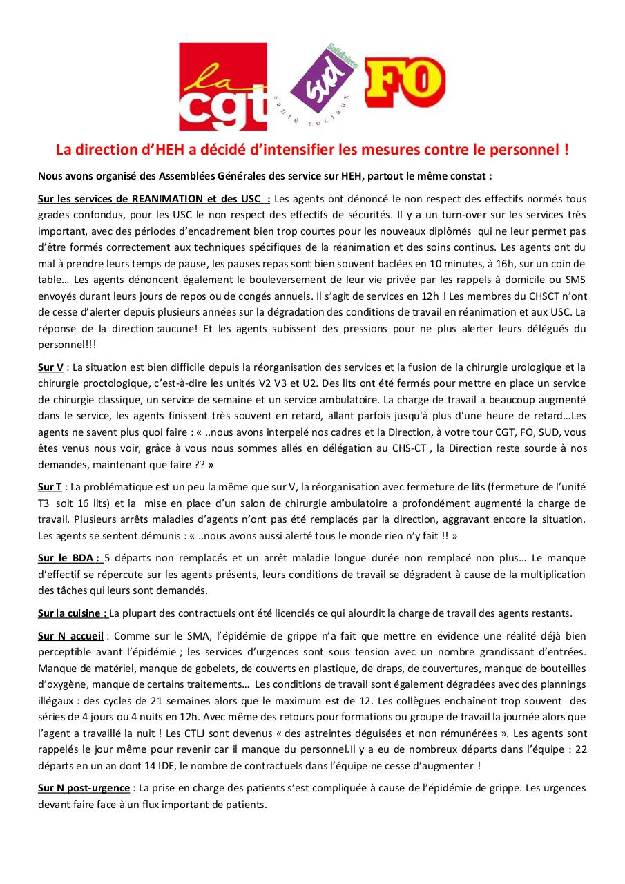 Tract rassemblement HEH FO CGT SUD du 15.02.17-1.pdf - page 1/2