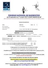 Fichier PDF fiche inscription badminton 2017