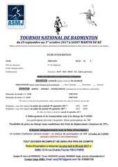 fiche inscription badminton 2017