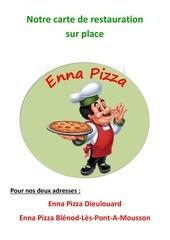 notre carte de restauration sur place enna pizza