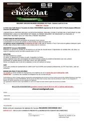 reglement concours inscription macarons chocorreze 2017
