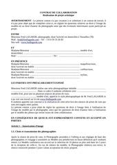 contrat de collaboration