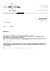 recommandation letters eng