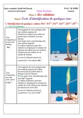 cours 3 tests d identification de quelques ions eleve