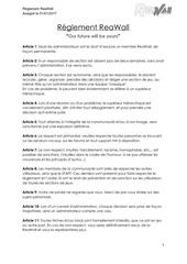 reglement reawall 2 1
