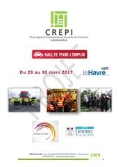 projet rallye pour l emploi le havre 28 au 30 mars 2017