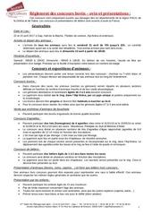 reglement bulletin certificat sanitaire
