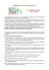 declaration d engagements liste