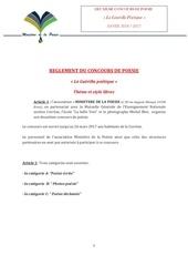 reglement du concours de poesie