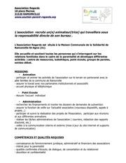 Fichier PDF poste d animateur trice association regards