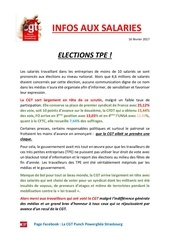 elections tpe 2017