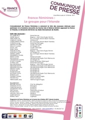 cp francefeminines liste irlandevfrance