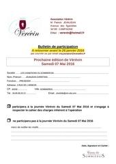 bulletin de participation 2016