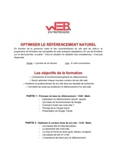formation re fe rencement