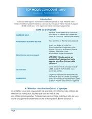 top model conditions et fonctionnement
